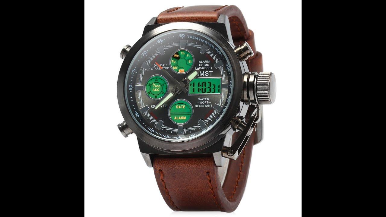 Мужские армейские часы в металлическом корпусе, их конструкция способна выдерживать любую нагрузку.