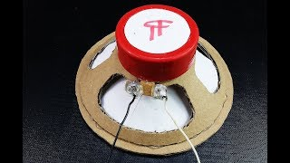 How to Make a Speaker at Home (Cardboard Speaker) - Diy Speaker