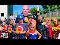 Nerf Battle Thanos Returns To Battle Avengers Hero Kids  a Fun Kids Parody