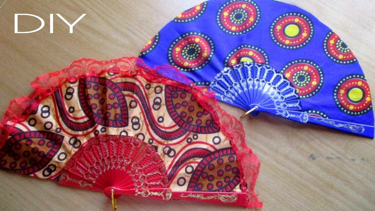 DIY Handfans with African Print Fabric (Ankara)