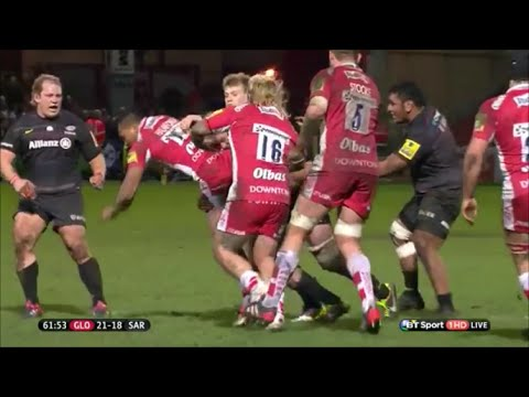 George Kruis sin binned after dump tackling David Halaifonua
