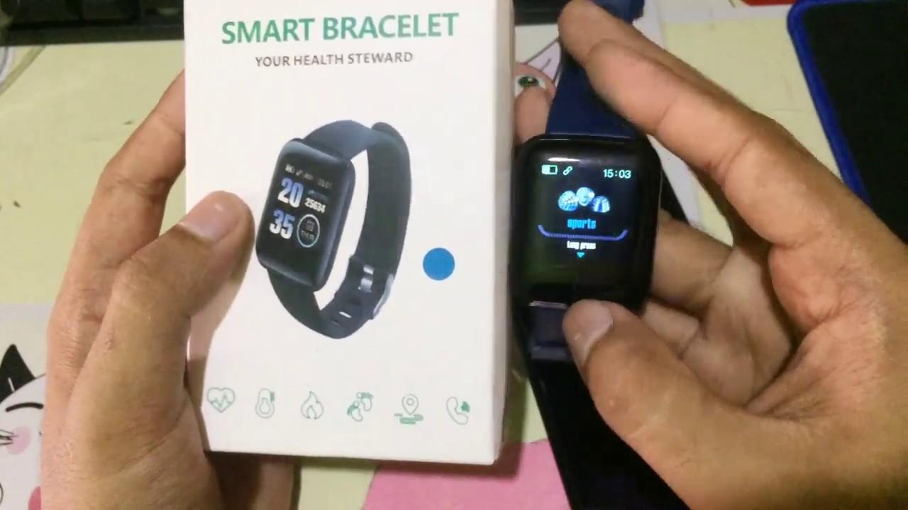 Review Smart Bracelet Murah Fit Pro Cara Sambung Ke Hp Jam Pintar Youtube