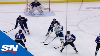 Elias Pettersson Cuts Through St. Louis Blues Then Beats Jake Allen