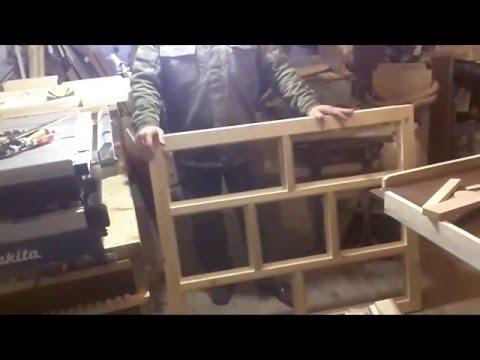 видео: Простая деревянная рама под стеклопакет
