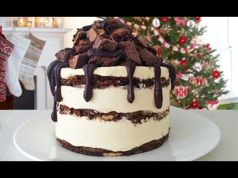 CHOCOLATE BROWNIE CHEESECAKE RECIPE How To Cook That Ann Reardon
