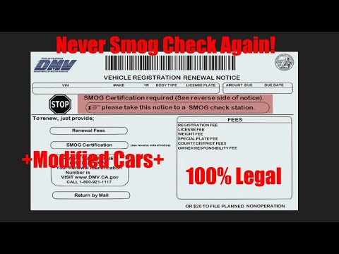 How To Avoid Smog Check In California! 100% Legal!