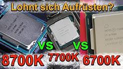 Intel i7-8700K vs 7700K vs 6700K - Lohnt sich das Aufrüsten überhaupt?
