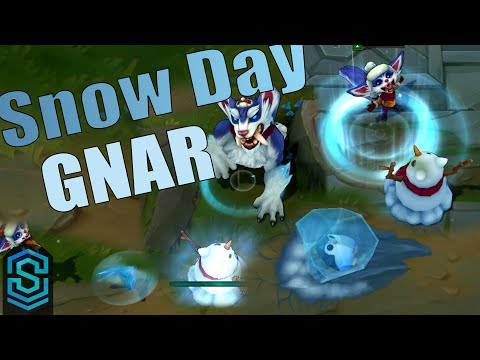 Snow Day Gnar Skin Spotlight - League of Legends