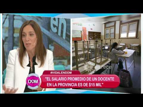 María Eugenia Vidal aclara cuánto es el sueldo promedio de un docente