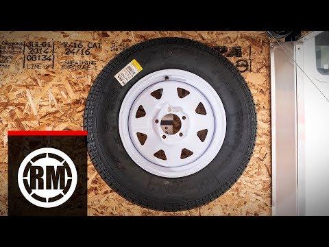 Rider Cargo Spare Trailer Tire Holder