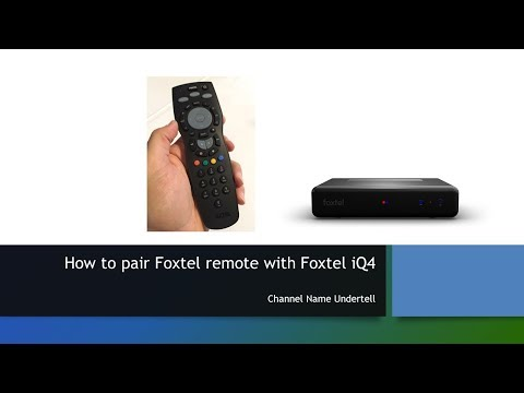 How to pair Foxtel remote with Foxtel iQ4