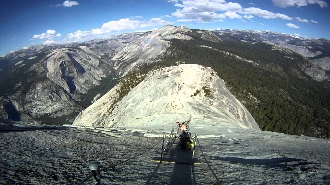 Climbing Half Dome Yosemite National Park Ca Youtube