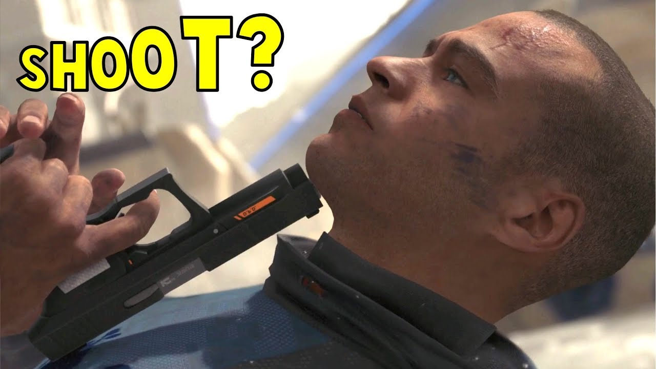 Markus Suicide vs Saved by John - Detroit Become Human HD PS4 Pro
