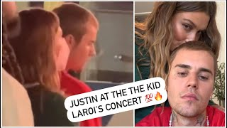 """Justin Bieber and Hailey at the The Kid Laroi's Concert """"Omg"""""""