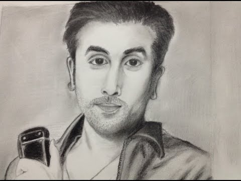 Ranbir Kapoor Bollywood Actor- HYPERREALISM Timelapse Pencil Sketch Bollywood Actor - YouTube