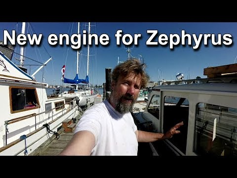 New engine for Zephyrus - Wooden boat restoration - Boat refit Travels With Geordie #82