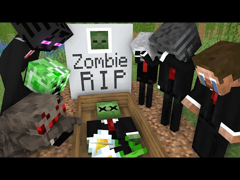 Monster School: RIP Zombie - Minecraft Animation