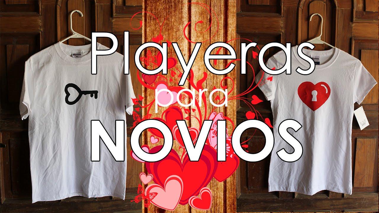 fc55945e66517 DIY  Playeras para novios. (Estampado Casero)