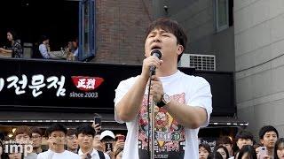허각의 미친 목소리 '향기만남아' 소름돋는 라이브 (홍대 버스킹 직캠)