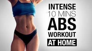 10 MIN INTENSE AB WORKOUT // ABS & Obliques AT HOME !