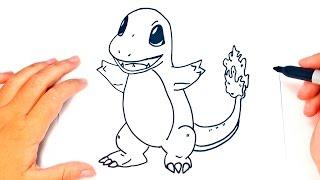 How to draw Charmander | Charmander Pokemon Easy Draw Tutorial