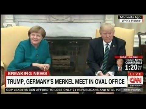 Thumbnail: Donald Trump and Angela Merkel at the White House how do they look?