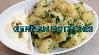 German Potatoes Easy Vegetarian Sides video recipe cheekyricho