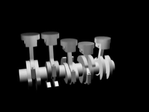 straight 5 engine animation 3 Rotor Engine