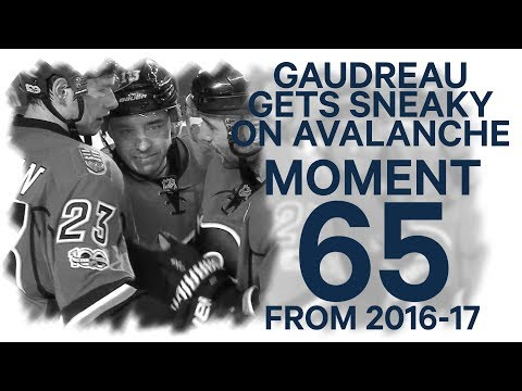 No. 65/100: Gaudreau pulls off the sneaky wraparound