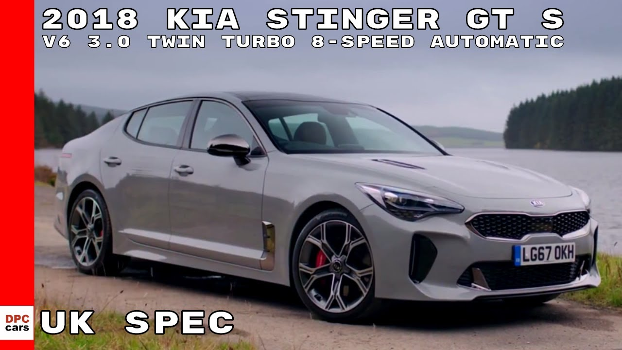 2018 kia stinger gt s v6 3 0 twin turbo 8 speed automatic youtube. Black Bedroom Furniture Sets. Home Design Ideas