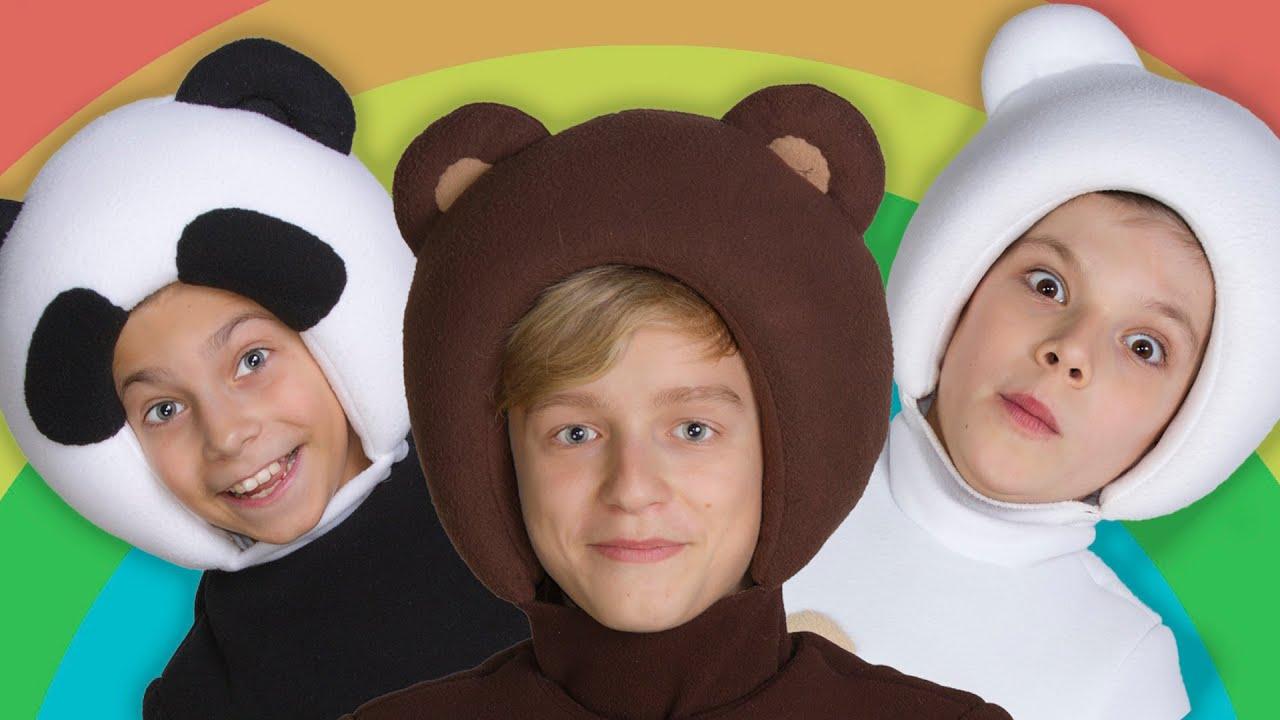 РАСКРАСКА - Три Медведя - ПЕСЕНКА и КАРАОКЕ про машины и цвета для детей