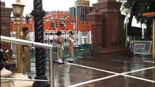 wagah border closing fight in india lahore