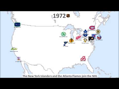 NHL team and logo history 1917 - 2017