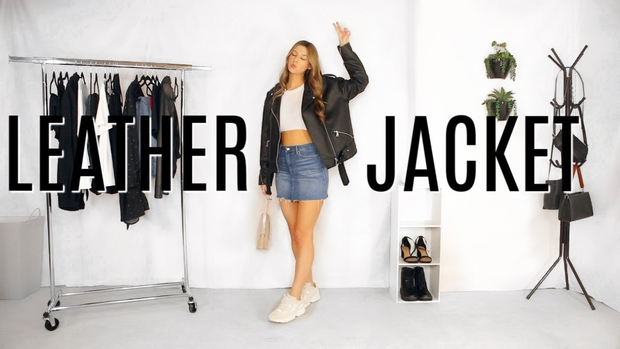How to Style A Leather Jacket 2020 | Leather Jacket Lookbook