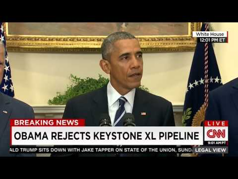 President Obama rejects Keystone Pipeline