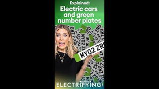What are green number plates and what do they mean? / Electrifying #Shorts