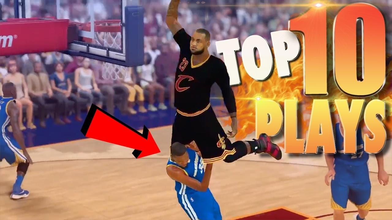 nba 2k17 top 10 most disrespectful dunks ankle breakers trick shots