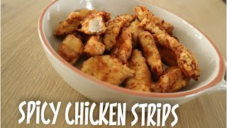 Quick Spicy Chicken Strips Recipe - Episode 486 - Baking with Eda