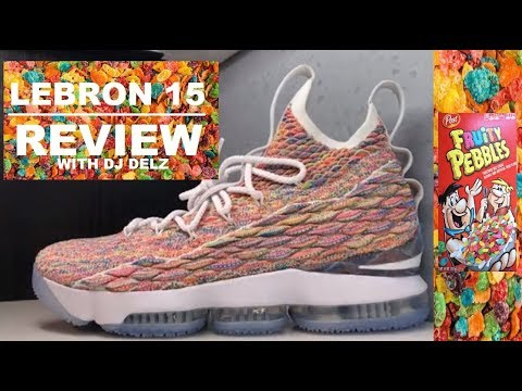 50a147d9d95 NIKE LEBRON 15 FRUITY PEBBLES CEREAL SNEAKER REVIEW - WATCH BEFORE YOU BUY