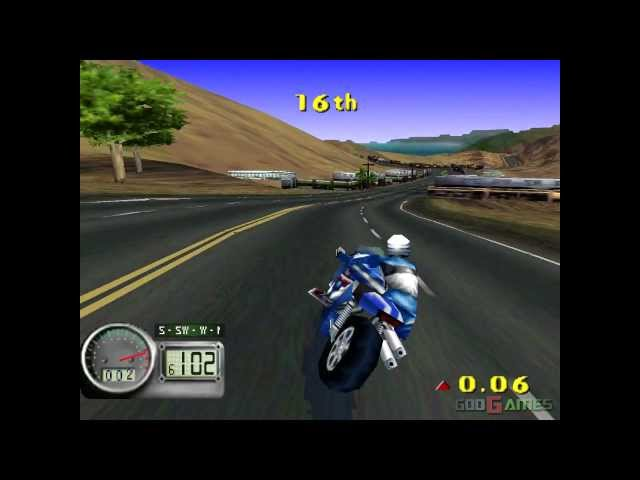 Road Rash 3D - Gameplay PSX (PS One) HD 720P (Playstation classics)