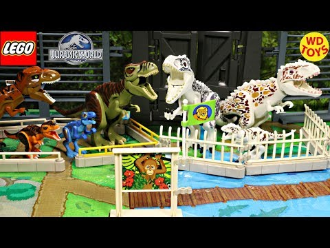 New Lego Dinosaur Ania Large Zoo Playset Toys With Jurassic World 11 Surprise Eggs Unboxing