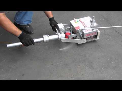 Soff Cut 310 Walk Behind Concrete Cement Saw 43.1 hrs Diamond Blade & 100 ft cord