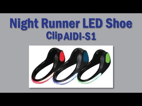 Night Runner Led shoe clip lights for adults, Night Runner Led Glow Shoe Clip AIDI-S1