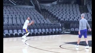 Stephen Curry intensifies his training ahead of Game 4 vs the Spurs