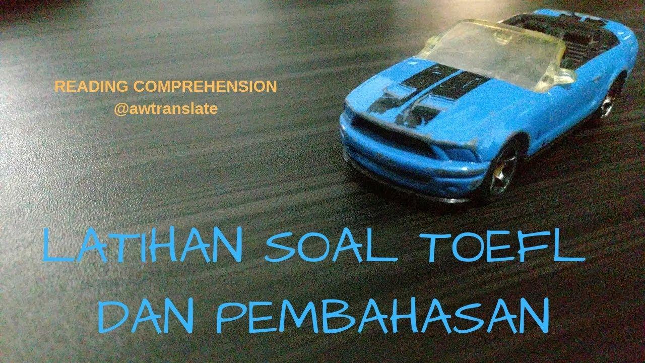Toefl Reading Comprehension Pbt Itp Pembahasan 1 Q22 Q31 Indonesia Memahami Bacaan Toefl itp reading comprehension