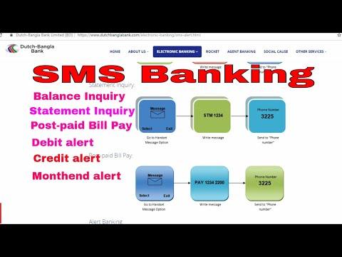 Dutch Bangla Bank | DBBL SMS Banking এস এম এস এর মাধ্যমে ব্যাংকিং সেবা