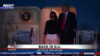 BACK IN D.C.: President Trump, First Lady Return from G7 Summit in France