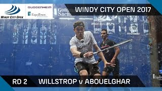 Squash: Willstrop v Abouelghar - Windy City Open 2017 Rd 2 Highlights