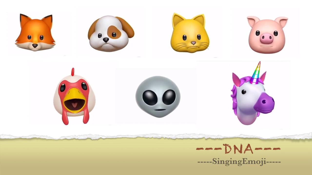 animoji karaoke emoji singing dna bts 방탄소년단 youtube