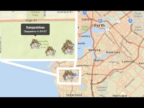 Map Of Australia Youtube.Five Kangaskhan Found In Perth Australia Map Pokemon Go